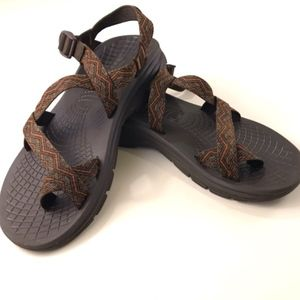 b4ff29591dc4 Chaco Shoes - Chaco Men s Z 2 Sandals Brown and Orange Size 12